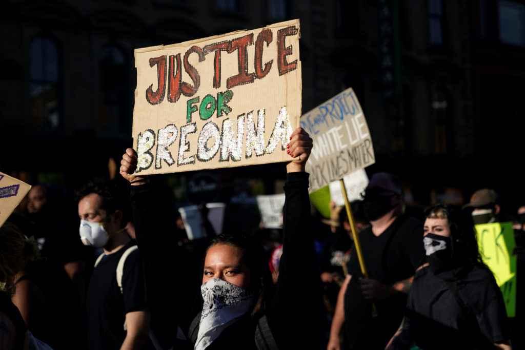 Protest photo via PBS