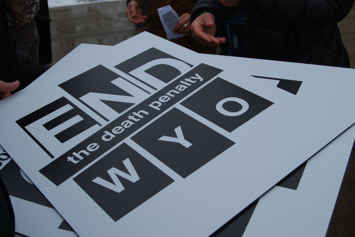 Wyoming Campaign to Repeal the Death Penalty posters