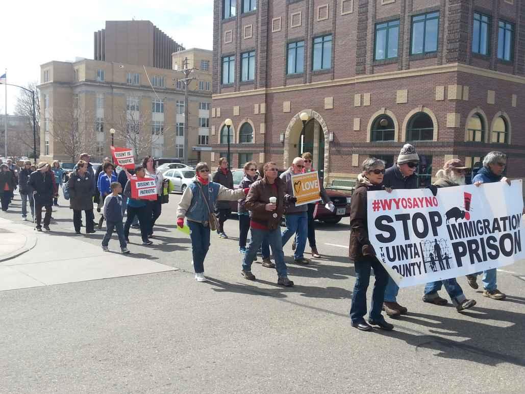 Wyo Say No march