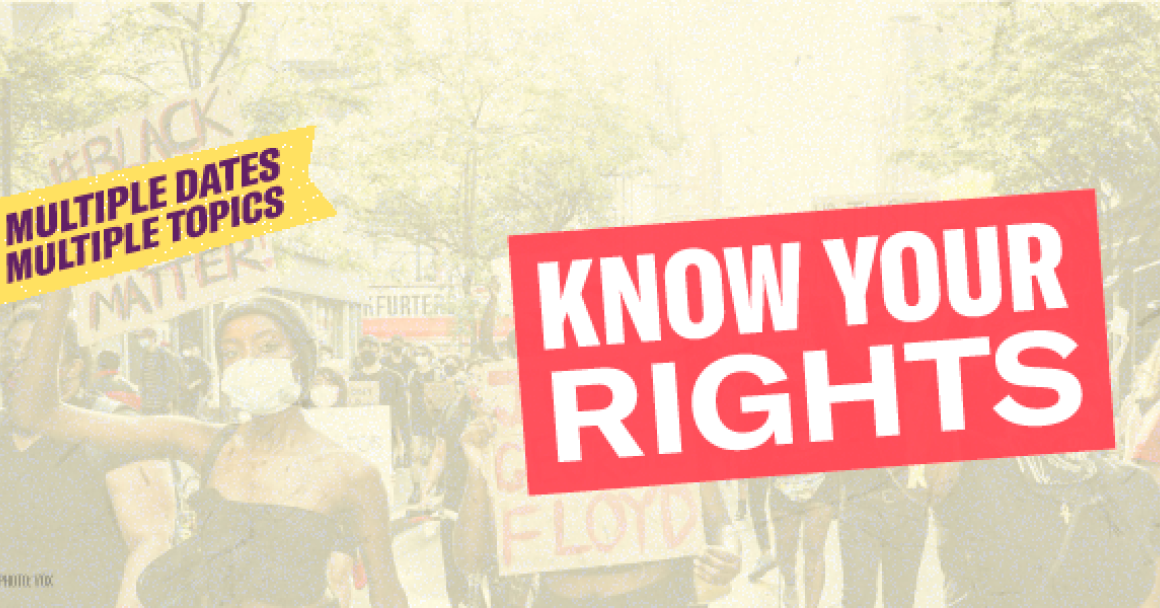 Know your rights banner